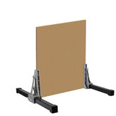 2Pcs 5-150mm Aluminum Alloy Gypsum Board Stand Sheet Support Frame Fixture Dry Wall Tool
