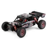 Wltoys 124016 1/12 4WD 2.4G RC سيارة بدون فرشات شاحنة صحراوية طرازات مركبات الطرق الوعرة عالية السرعة 75 كم / ساعة هيكل معدني