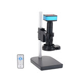 HAYEAR 4K caméra de Microscope industriel HDMI sorties USB 180X lentille de monture C 144 LED lumière grande flèche pour soudure de réparation de PCB