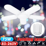 75W E27 2500LM Deformable LED Ceiling Lamp Light Fixture Foldable Home Garage