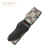 Naomi Nylon Guitar Strap Adjustable Guitar Strap Belt Flower Pattern For Acoustic Electric Bass Adjustable Soft Webbing Belt