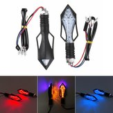 2Pcs Motorcycle Turn Signal Lights ABS Plastic Material Red Yellow Blue