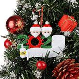 2020 joyeux noël arbre suspendus ornements famille bricolage décoration personnalisée cadeaux