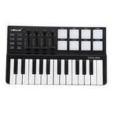 WORLDE Panda USB 25-Key MIDI Keyboard Controller w/Drum Pad Portable Trigger