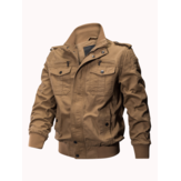 Mens Outdoor Tactical Washed Cotton Pockets Plus Size Military Jacket