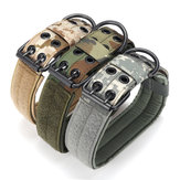 L Tactical Military Adjustable Dog Training Collar Nylon Smycz z metalową klamrą