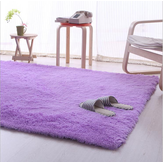 80cm x 160cm Purple Soft Fluffy Anti Skid Shaggy Area Rug Living Room Home Carpet Floor Mat