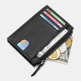 Men Genuine Leather RFID Anti-theft Ultra-thin Card Case Card Holder Wallet