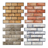 3D Retro Wall Sticker Self-adhesive Simulation Brick Rock Wallpaper Home Office Wall Decor Papers