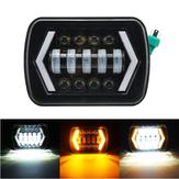 7x6 5X7 55W H4 LED Headlights DRL 1PCS for Jeep/Cherokee XJ/Wrangler YJ/Toyota Pickup