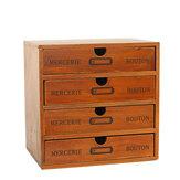 Kotak Penyimpanan Laci Kayu Retro Desktop Penyimpanan Kabinet Kotak Finishing Serba-serbi Perhiasan Kosmetik Organizer untuk Rumah Kantor