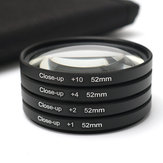 52MM Close Up Macro Lens Kit +1 +2 +4 +10 for DSLR SLR Digital Camera