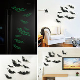 Luminous Three-dimensional Plastic Bat Halloween Wall Sticker Bar Haunted House Decoration