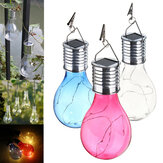 Solar Powered Warm White Waterproof Outdoor Garden Fairy Lighting Bulb Camping suspenso lâmpada