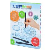 Puzzle de peinture Spirographe règle géométrique ensemble outils de dessin multifonction étudiants dessin jouets enfants apprentissage outil d'art