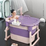 Xiaoshutong 8827 103CM Banheira portátil dobrável para adultos com temperatura de fechamento surround com cilindro aumentado Design Economizando espaço para Banheiro
