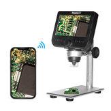 MUSTOOL G610 WIFI 2MP 4.3inch LCD Prise en charge du microscope Système Android IOS intégré Batterie rechargeable et 8 Leds réglables avec support en métal