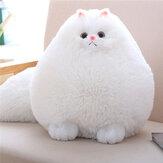 Cute Stuffed White Persian Cat Dolls Soft Pelúcia Animal Toy Crianças Crianças