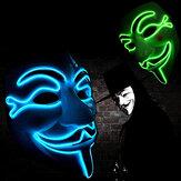 Halloween V para Vendetta Mascara LED Scary EL-Wire Mascara Light Up Festival Cosplay Disfraces Suministros Fiesta Mascara