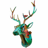 3D Houten DIY Animal Deer Head Puzzle Art Model Home Office Wall Hanging Decoration