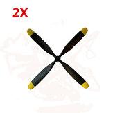 2PCS Volantex RC768-1マスタングP-51DウォーバードRCアイプラーンスペアパート4-ブレード3.0mmプロペラ