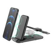 Bakeey 3 In 1 15W 10W 7.5W 5W Wireless Charger Fast Wireless Charging Holder For Qi-enabled Smart Phones for iPhone 11 2020 For Samsung Galaxy Note 20 Ultra Huawei P40 Pro Mi10 For iWatch TWS Earphones