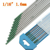 Green Tip Pure Tungsten Electrode for TIG Welding 10PK  1.6mm X 150mm