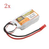2Pz ZOP Power 7.4V 750mAh 2S 70C Lipo Battery JST Spina