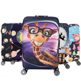 Honana Cartoon Cute Animal Elastic Luggage Cover Trolley Case Cover Durable Suitcase Protector for 18-32 Inch Case Warm Travel Accessories