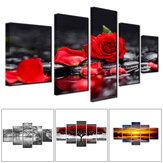 5 Panel Çerçevesiz Modern Tuval Sanat Yağ Boyama Resim Odası Duvar Sanatı Resimleri Ev Duvar Dekorasyon Malzemeleri