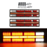 2PCS 24V LED Tail Light Turn Signal Running Brake Steering Lamp Waterproof Shockproof Dustproof For Trailer Truck Lorry