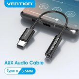 VENTION USB Type-C to 3.5mm Audio Earphone Adapter USB-C to 3.5mm Headphones Audio Aux Cable for Samsung Galaxy Note S20 ultra Huawei Mate40 OnePlus 8 Pro