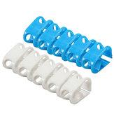 5 stücke Kunststoff Klemm Clamp Siphon Schlauch Durchflussregelventil Tube Clamp Medium Weiß / Schwarz 7,5 MM