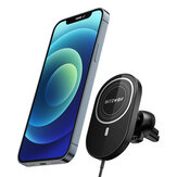 BlitzWolf® BW-CW4 15W Car Magnetic Wireless Charger Air Vent Car Phone Holder Car Mount 360° Rotation for iPhone 12 for iPhone 12 Mini for iPhone 12 Pro for iPhone 12 Pro Max