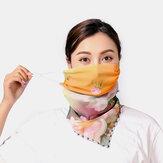 Women Breathable Printing Masks Ear-mounted Neck Protection Sunscreen Scarf Anti-UV Bandana
