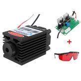 Puissance haute puissance 2.5W 450nm Module laser bleu TTL 12V Carving Free Goggles