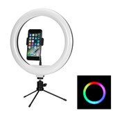 Bakeey 12 inch RGB LED Selfie Ring Fill Light Dimmable Studio Ring Lamp With Stand