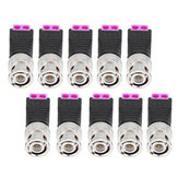 10Pcs BNC Male Connector Audio Video Q9 Joint 2 Bit Twisted Wire Press Joint Jack Connector