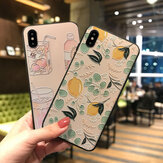 Fashion Food Cartoon Pattern 3D Embossed TPU Protective Case for iPhone X / XS / XR / XS Max / 6 / 7 / 8 / 6S Plus / 6 Plus / 7 Plus / 8 Plus