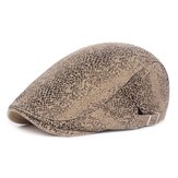 Mens Leopard Painter Beret Hat Newsboy Cabbie Flat Cap