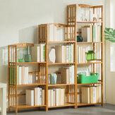 3 Lagen 50 / 70cm Houten Houder Boekenplank Ruimtebesparende Vloer Boekenkast voor Creatieve Moderne Kleine Woondecoratie
