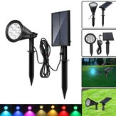Solar 7 LED Color Changing Spot Light Wall Garden Outdoor Yard Landscape Lamp