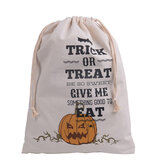 Halloween Bolsa Tela de pintura Party Halloween Sacks Drawstring Candy Presentes Bolsa