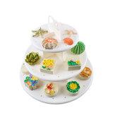3CamadadeBoloDeFesta De Aniversário De Casamento Cupcake Stand Sobremesa Exibição Titular Pirulito Decorações Do Bolo