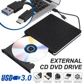 Slim USB externo 3.0 DVD RW CD Writer Drive Burner Reader Player para PC portátil *