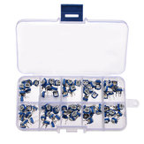 100pcs RM065 Horizontal Trimpot Potentiometer Assortment Kit With Storage Box