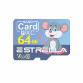 Estrella TF Card Memory Card C10 V60 U3 32G 64G 128G Smart Card with SD Card Adapter Cartoon Style