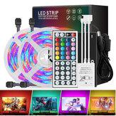 2*5M Waterproof DC12V LED Strip Light 3528 RGB Color Home Lamp+IR Remote Control+US Plug Power Adapter