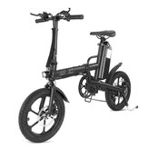 CMSBIKE F16-PLUS 13Ah 250W Black 16 Inches Folding Electric Bicycle 25km/h 80km Mileage Intelligent Variable Speed System Electric Bike