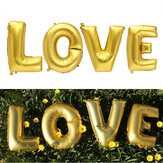 4Pcs Gold Silver LOVE Set Mylar Foil Balloons for Birthday Wedding Party Home Decorations